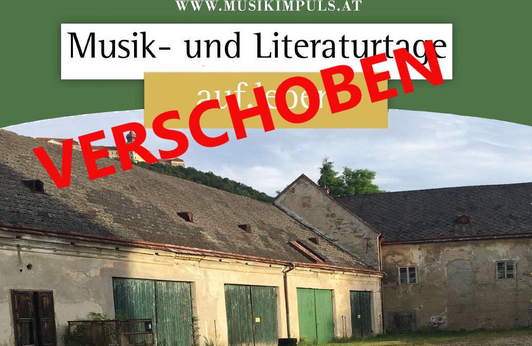 VERSCHOBEN: Auf.Leben Musik- und Literaturtage